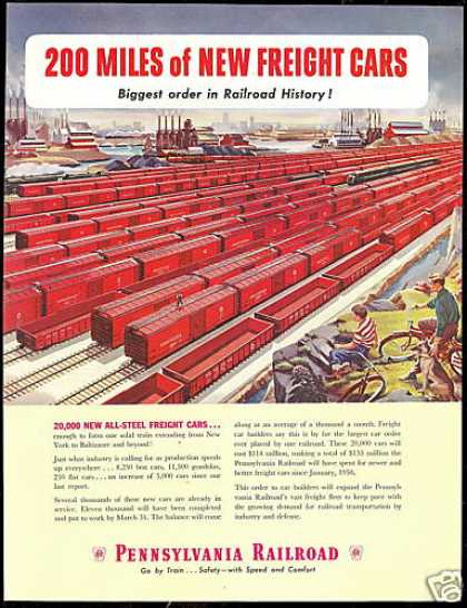Pennsylvania Railroad Train Freight Cars Order (1950)