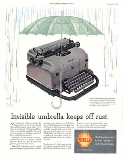 Shell Underwood Typewriter (1953)