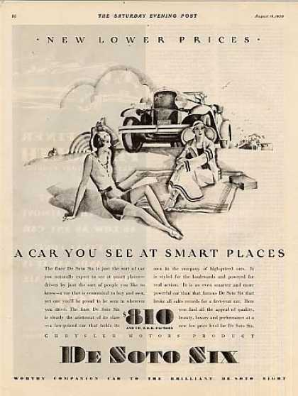 "Desoto Six Car Ad ""A Car You See... (1930)"