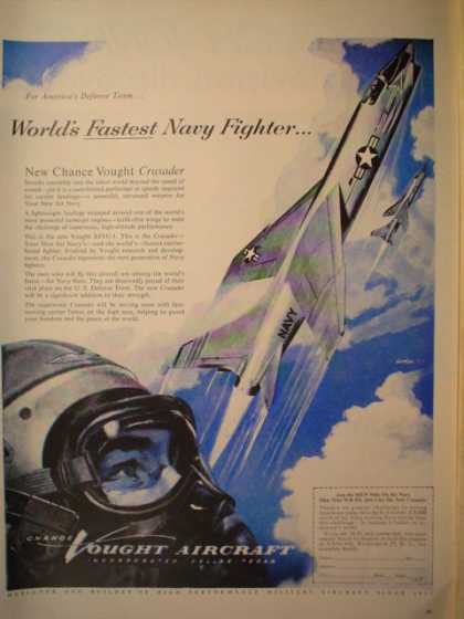 Vought Aircraft Worlds fastest navy fighter (1955)