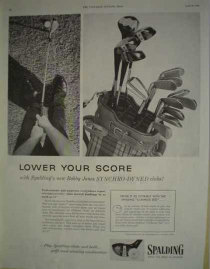 Spalding golf clubs Bobby Jones Synchro dyned (1955)