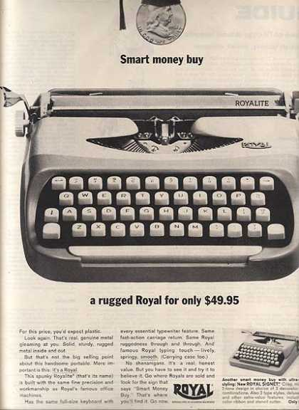 Royal (Royalite Portable Typewriter) (1962)