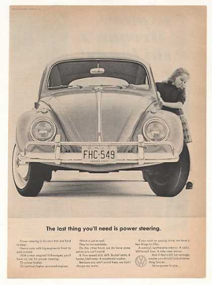 VW Beetle Bug Last You'll Need Power Steering (1963)