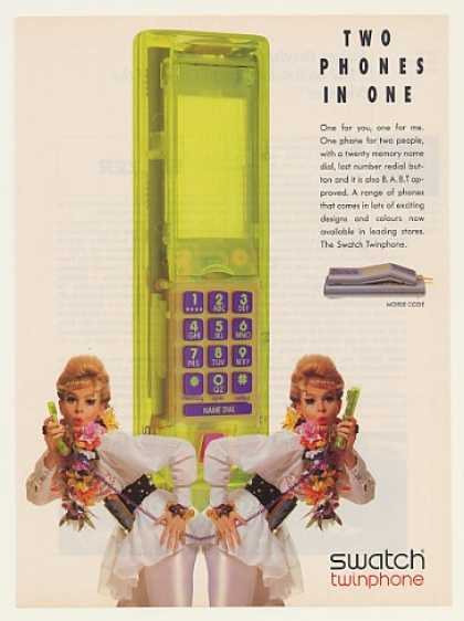 Swatch Twinphone Telephone 2 Phones in 1 (1991)