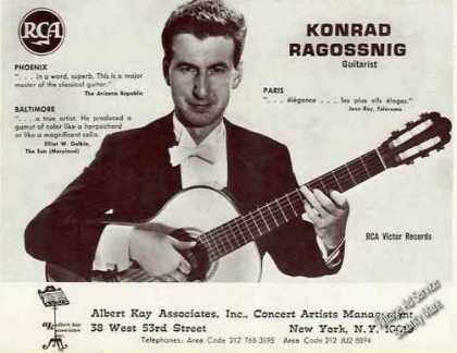 Konrad Ragossnig Photo Guitarist Trade (1967)