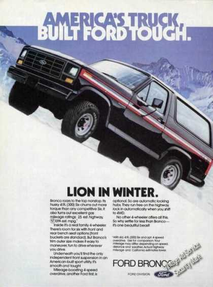 Ford Bronco America's Truck Color (1981)