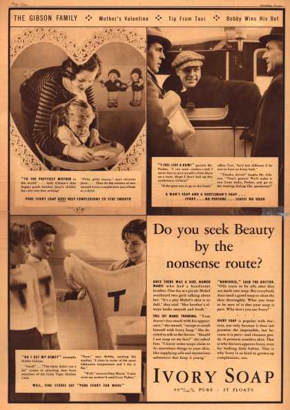 Procter & Gamble Co.'s Ivory Soap – Do you seek Beauty by the nonsense route? (1934)