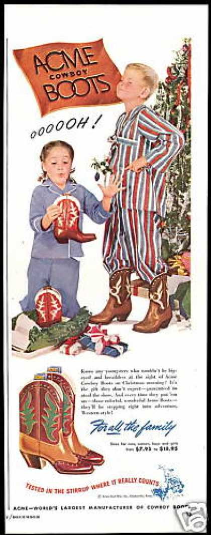 Acme Cowboy Boots Christmas Morning (1948)