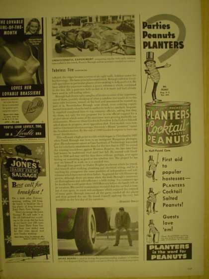 Planters Cocktail Peanuts Guests love them (1949)