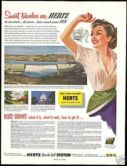 Hertz Rent A Car Grand Coulee Dam (1953)