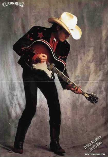 Ricky Van Shelton Large Magazine Photo Feature (1991)