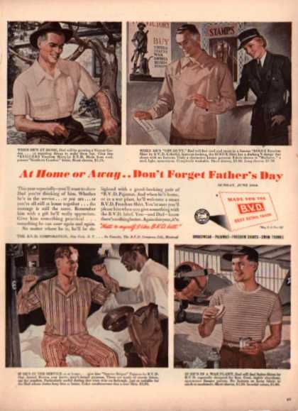 Bvd Underwear Shorts Pajamas Shirt Army (1943)