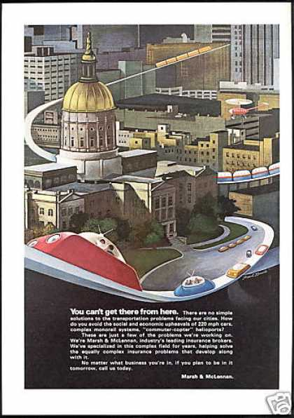 Futuristic Travel Davis Art Marsh & McLennau (1970)