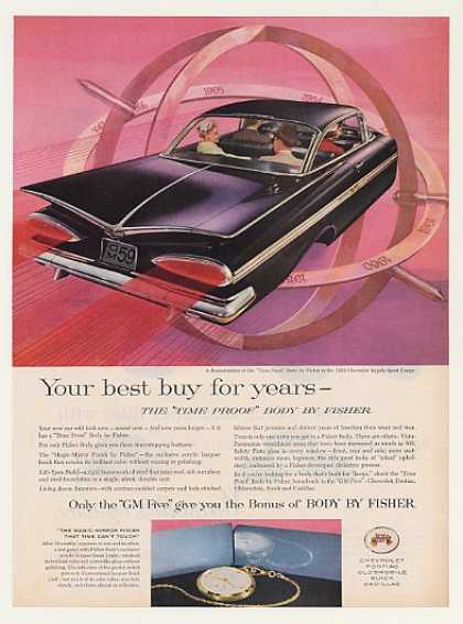 Chevy Impala Sport Coupe GM Body by Fisher (1959)