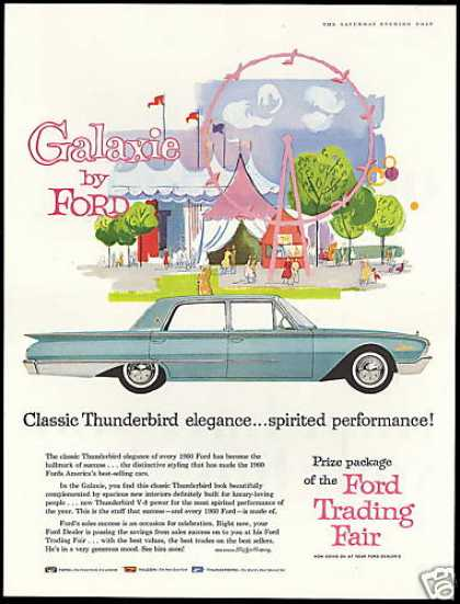 Ford Galaxie 4dr Car Ferris Wheel Fair Art (1960)
