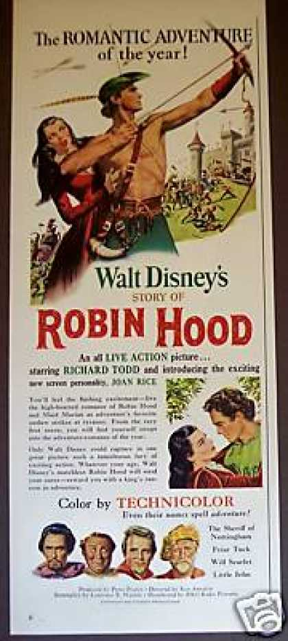 Robin Hood Walt Disney Movie Original Promo (1952)