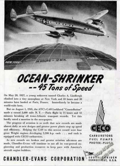 Atc C-69 Lockheed Constellation Ocean Shrinker (1946)