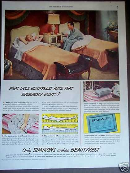 Bedroom Decor Twin Beds Beautyrest Mattress (1948)