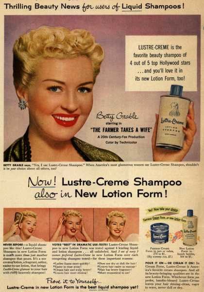 Kay Daumit's Lustre-Creme Shampoo – Now! Lustre-Creme Shampoo also in New Lotion Form (1953)