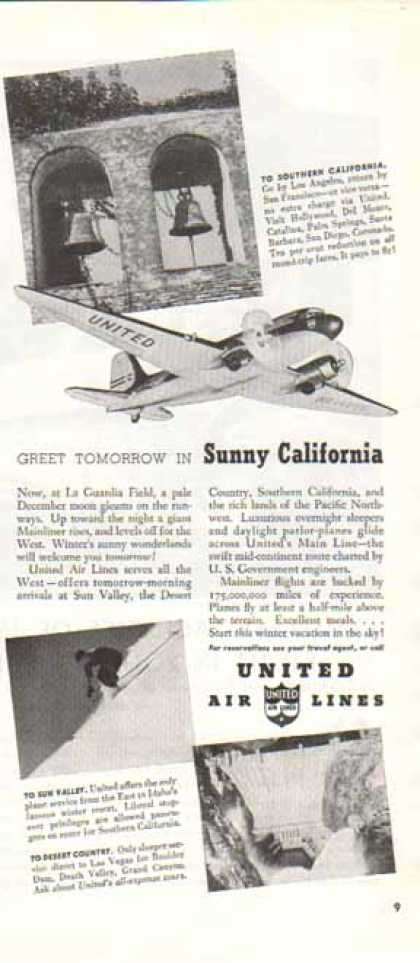 United Airlines – Sunny California, Boulder Dam (1940)
