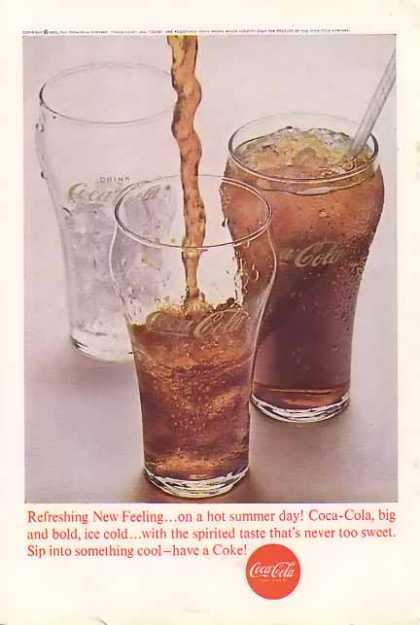 Coke Sip into something cool Coke (1963)