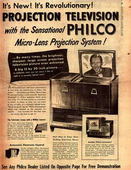 Philco's Projection Television – It's New! It's Revolutionary! Projection Television (1947)