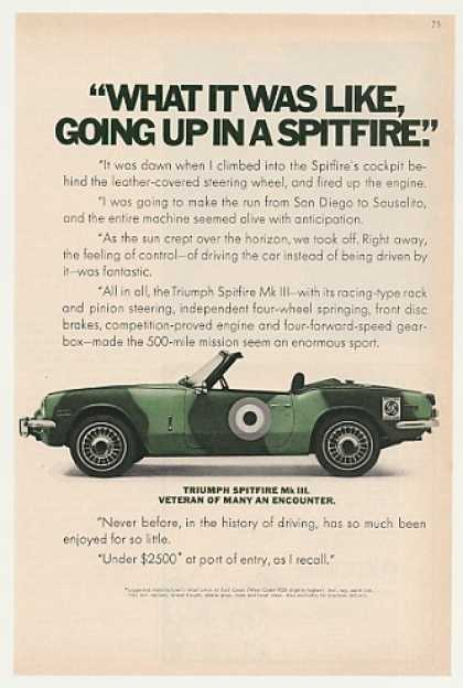 Triumph Spitfire Mk III Camouflage Painted (1970)