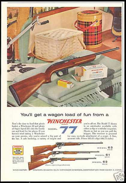 Winchester Model 77 63 61 62 Rifle Photo (1957)