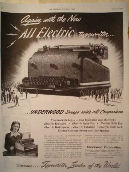 Underwood All Electric Typewriter (1947)