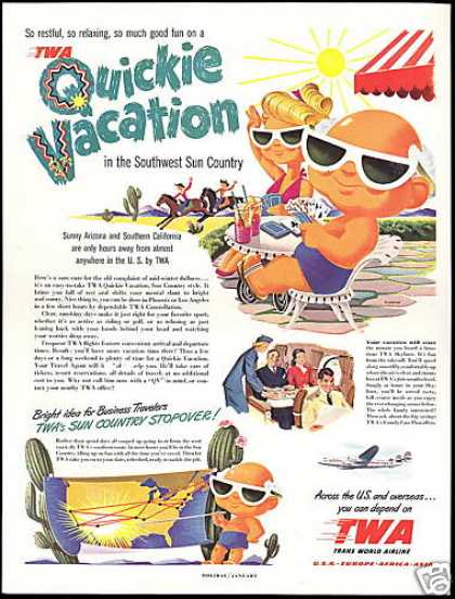 TWA Airlines Southwest Sun Country Sunglasses (1950)