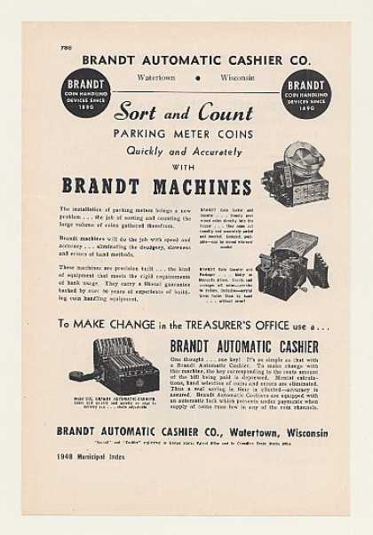 Brandt Coin Sorter Counter Auto Cashier Machine (1948)