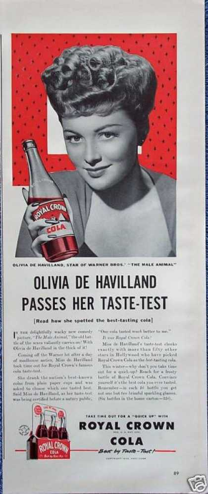 Royal Crown Cola RC Olivia De Havilland Pass Test (1942)