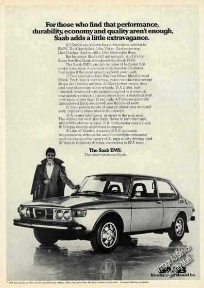 "Saab Ems ""Adds a Little Extravagance"" (1975)"