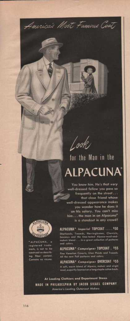 Alpacuna Most Famous Mens Coat (1949)