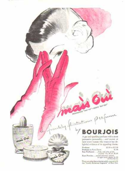 "Mais Oui by Bourjois Perfume – Pronounced ""May We"" Means ""But Yes"" (1948)"