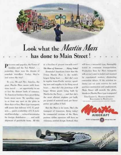 Martin Mars Art Baltimore Md Wwii (1944)