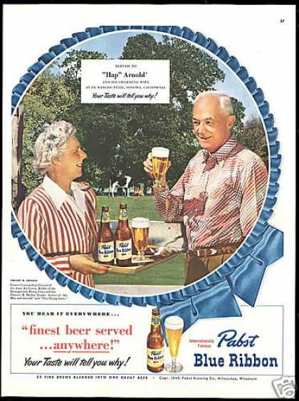Pabst Beer Hap Arnold Photo Army Air Force (1949)