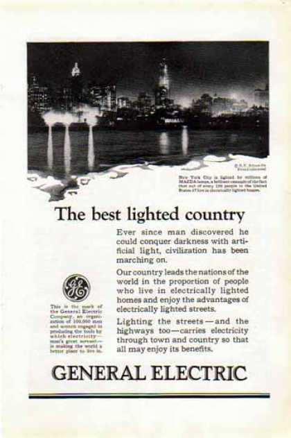 General Electric – Mazda Lamps light up New York (1924)
