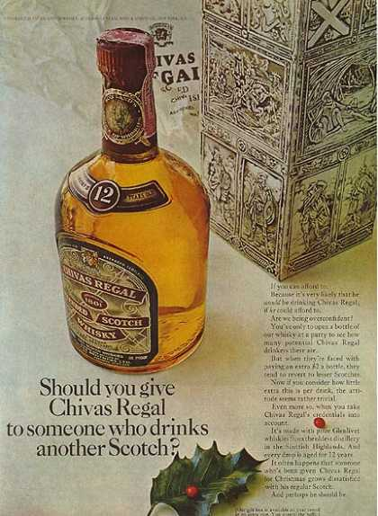 Chivas Regal's Blended Scotch Whisky (1963)