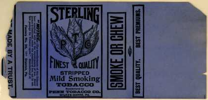 Penns Tobacco Co.'s Sterling Stripped Mild Smoking Tobacco – Sterling Finest Quality Stripped Mild Smoking Tobacco