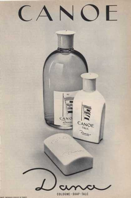 Dana Canoe Cologne Soap Talc (1965)