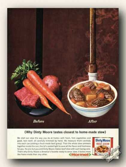 Dinty Moore Beef Stew Closest To Home-made (1967)