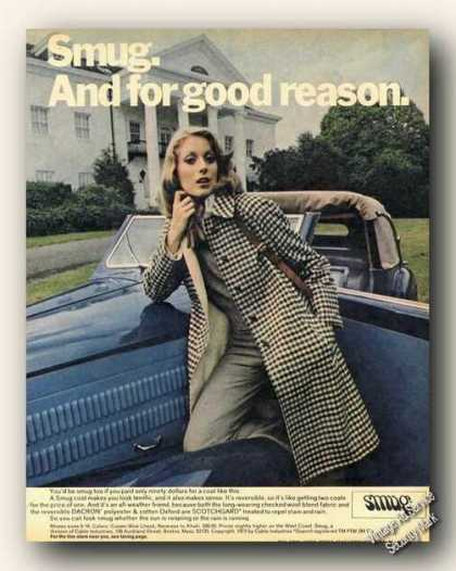 Smug Coat Photo Color Advertising (1973)