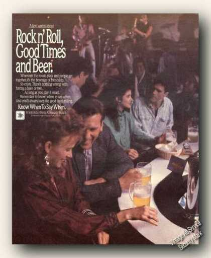 Rock N'roll, Good Times & Beer Anheuser-busch (1988)
