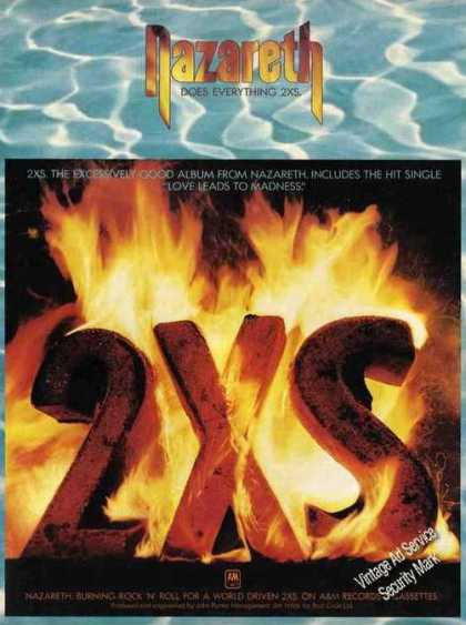 "Nazareth ""2xs"" Collectible Music Album (1982)"