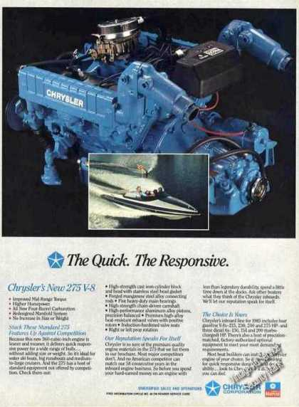 Chrysler 275 V-8 Marine Engine Impressive Photo (1985)