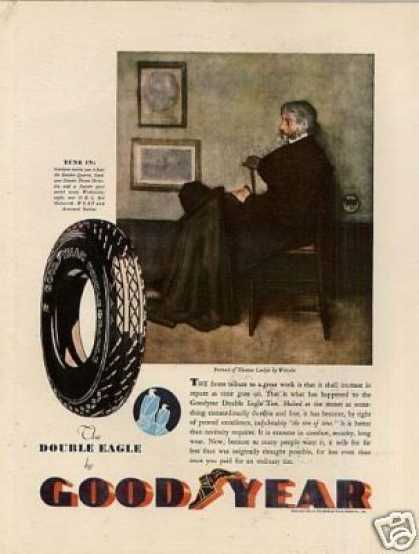 Goodyear Tire Color Ad Thomas Carlyle (1932)
