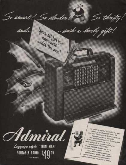 Admiral Thin Man Portable Radio (1947)