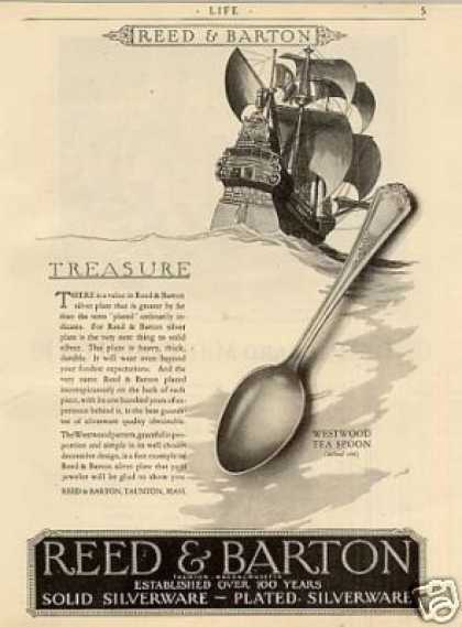 Reed & Barton Silverplate Ad Westwood Pattern (1926)