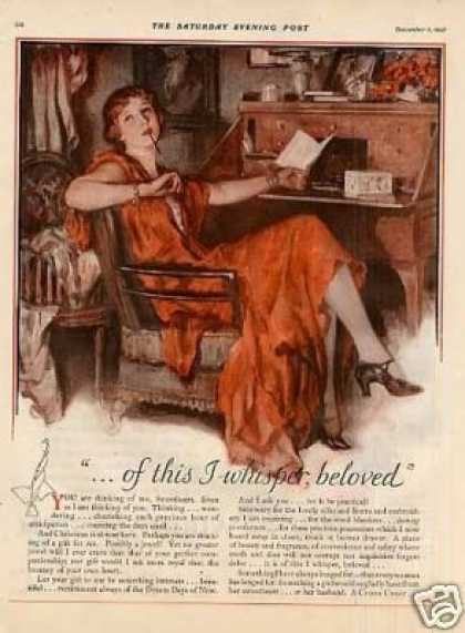 Lane Cedar Hope Chests Color Ad 2 Page (1927)